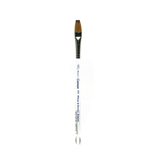 "Winsor and Newton Cotman Water Colour Brushes, 1/2"", One Stroke with Clear Beveled Handle 777 (53409)"