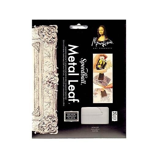 Mona Lisa Metal Leaf Imitation Silver Pack Of 25 Sheets [Pack Of 2]