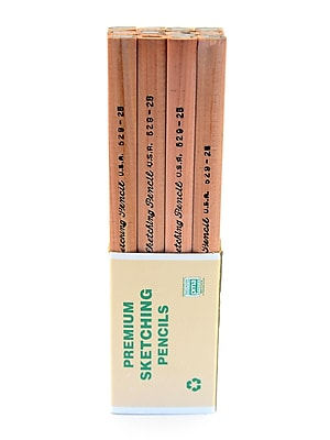 General's Premium Flat Sketching Pencils, 2B, 24/Pack