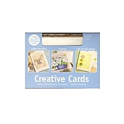 Strathmore Deckle Edge Creative Cards And Envelopes, White With Gold Deckle, 2/Pack (46503-Pk2)