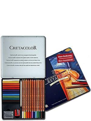 Cretacolor Pastel Pencil Basic Set basic tin box