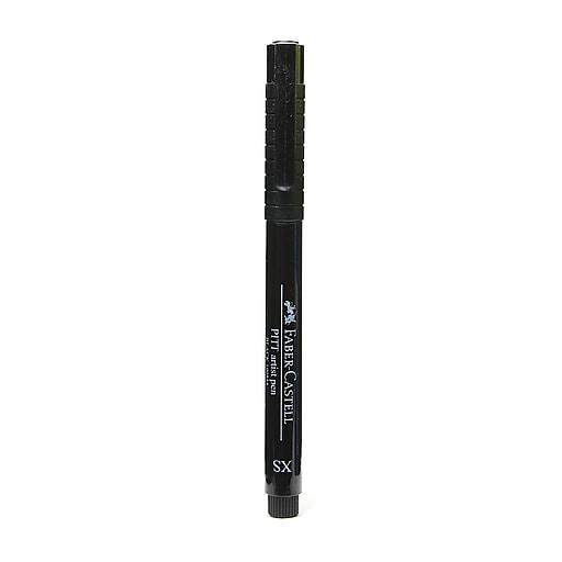 Faber-Castell Pitt Artist Pens black extra superfine 199 [Pack of 8]