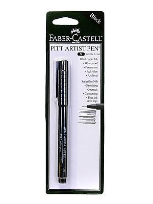 Faber-Castell Pitt Artist Pens black superfine [Pack of 8]
