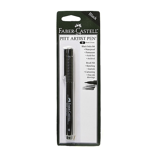 Faber-Castell Pitt Artist Pens black brush [Pack of 8]