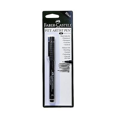 Faber-Castell Pitt Artist Pens black medium [Pack of 8]