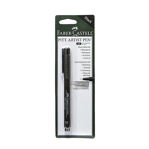 Faber-Castell Pitt Artist Pens black extra superfine [Pack of 8]