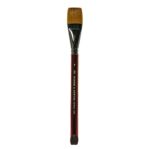 Winsor  and  Newton Series 295 Golden Nylon  and  Natural Hair Flat Brushes 1 in.