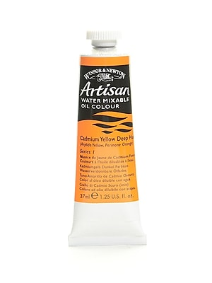 Winsor and Newton Artisan Water Mixable Oil Colours cadmium yellow deep hue 37 ml 115 [Pack of 3]