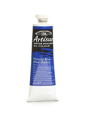Winsor and Newton Artisan Water Mixable Oil Colours phthalo blue (red shade) 37 ml 514 [Pack of 3]