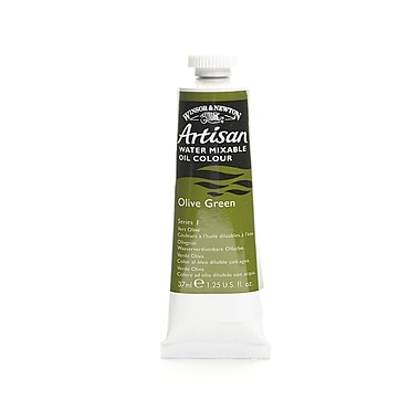 Winsor and Newton Artisan Water Mixable Oil Colours olive green 37 ml 447 [Pack of 3]