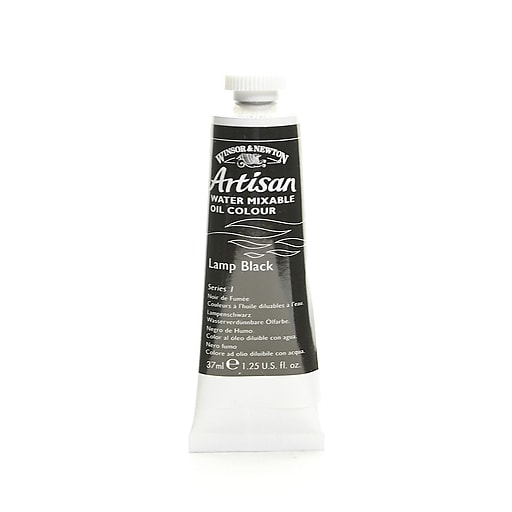 Winsor  and  Newton Artisan Water Mixable Oil Colours lamp black 37 ml 337 [Pack of 3]