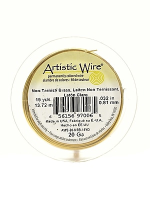 Artistic Wire Spools 15 yd. non-tarnish brass 20 gauge [Pack of 4]