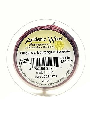 Artistic Wire Spools 15 yd. burgundy 20 gauge [Pack of 4]