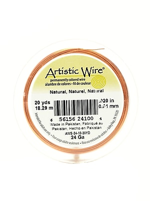 Artistic Wire Spools 20 yd. natural 24 gauge [Pack of 4]