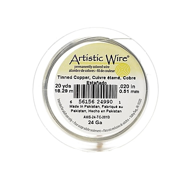 Artistic Wire Spools 20 yd. tinned copper 24 gauge [Pack of 4]