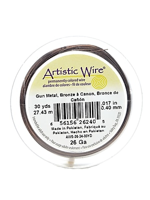 Artistic Wire 62354-PK4 Spools 30yd, Antique Brass, 26-Gauge, 4/Pack