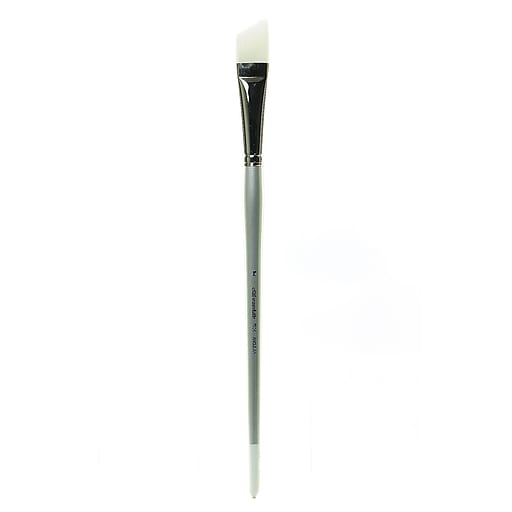 Silver Brush Silverwhite Series Synthetic Brushes Short Handle 1 in. angular