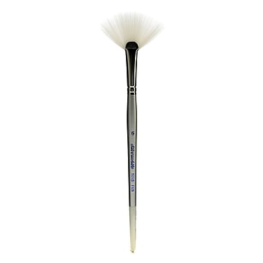 Silver Brush Silverwhite Series Synthetic Brushes, Short Handle 6 Fan (67098)