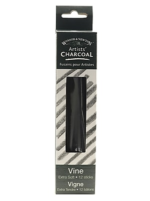 Winsor and Newton Artists' Charcoal, Vine Extra Soft Box of 12, 2/Pack (13014-PK2)