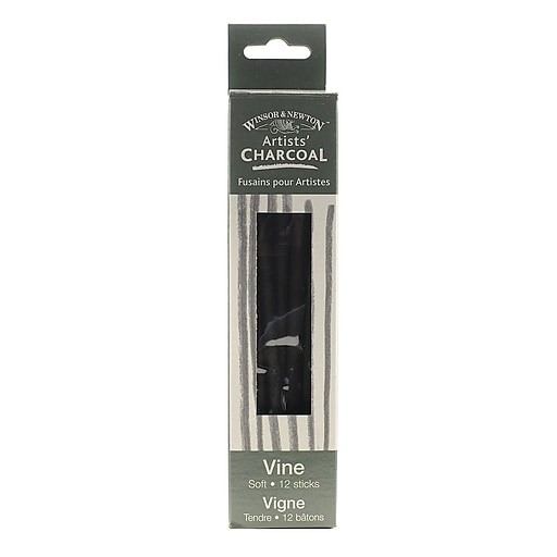 Winsor and Newton Artists' Charcoal, Vine Soft, 12/set, 2/Pack (32779-PK2)