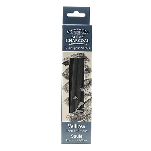Winsor and Newton Artists' Charcoal, Willow, Thick, 2/Box, 2/Pack