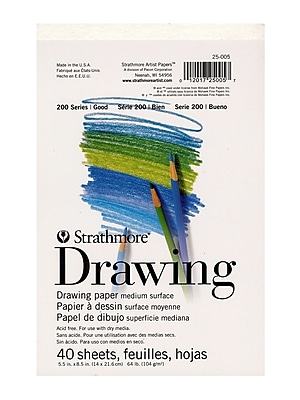 Strathmore Student Art Drawing Paper Pad 8.5 in. x 5.5 in. [Pack of 9]