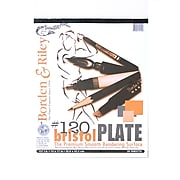 "Borden And Riley #120 Bristol Pad, 14"" X 17"", Plate Finish (15332)"