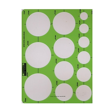Rapidesign Circle Drafting Templates metric extra large circles 13 circles