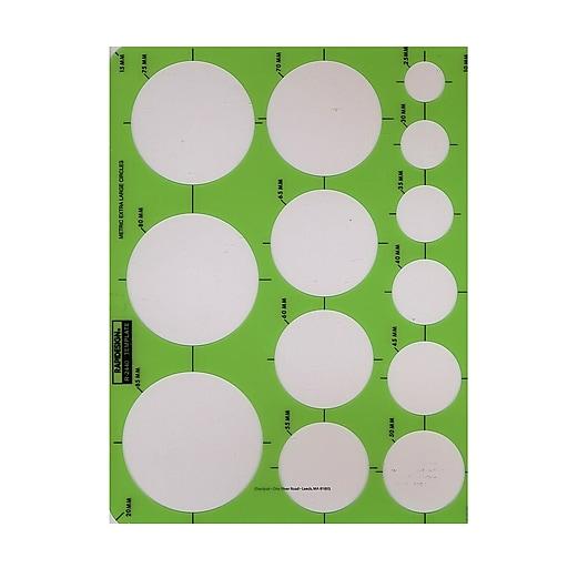rapidesign circle drafting templates metric extra large circles 13