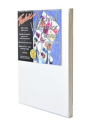 Fredrix Archival Watercolor Stretched Canvas 9 in. x 12 in. each