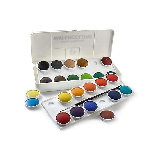 Grumbacher Deluxe Transparent Watercolor Set, 24 Colors
