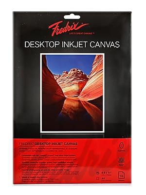 Fredrix Desktop Inkjet Canvas, 8.5