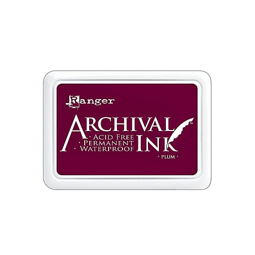 Ranger Archival Ink plum 2 1/2 in. x 3 3/4 in. pad [Pack of 3]