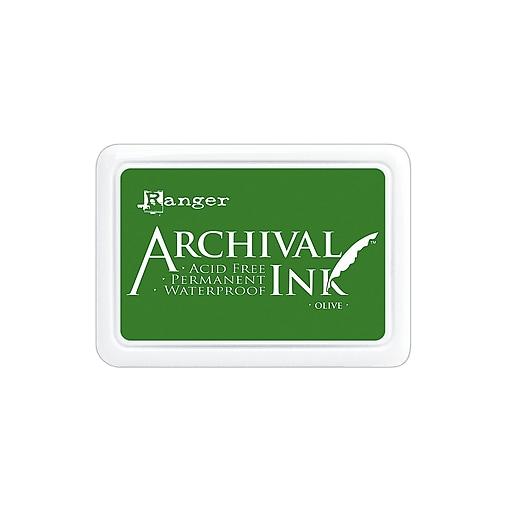 Ranger Archival Ink olive 2 1/2 in. x 3 3/4 in. pad [Pack of 3]