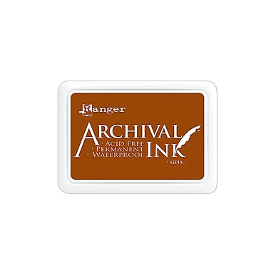 Ranger Archival Ink sepia 2 1/2 in. x 3 3/4 in. pad [Pack of 3]