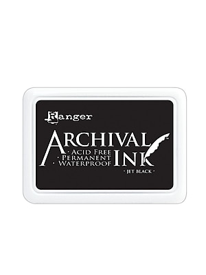 Ranger Archival Ink jet black 2 1/2 in. x 3 3/4 in. pad [Pack of 3]