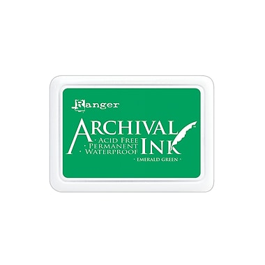 Ranger Archival Ink emerald green 2 1/2 in. x 3 3/4 in. pad [Pack of 3]