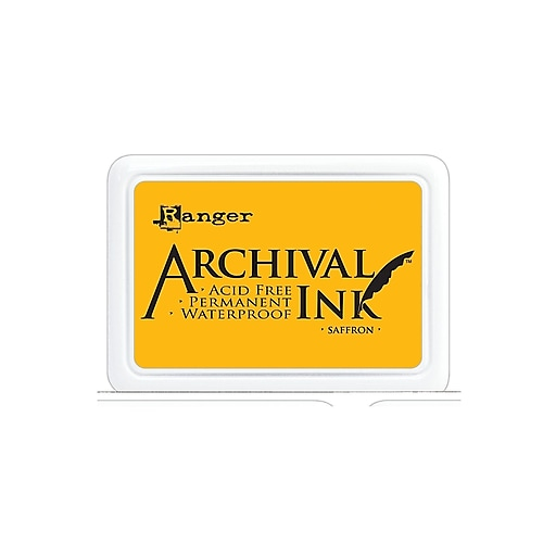 Ranger Archival Ink saffron 2 1/2 in. x 3 3/4 in. pad [Pack of 3]