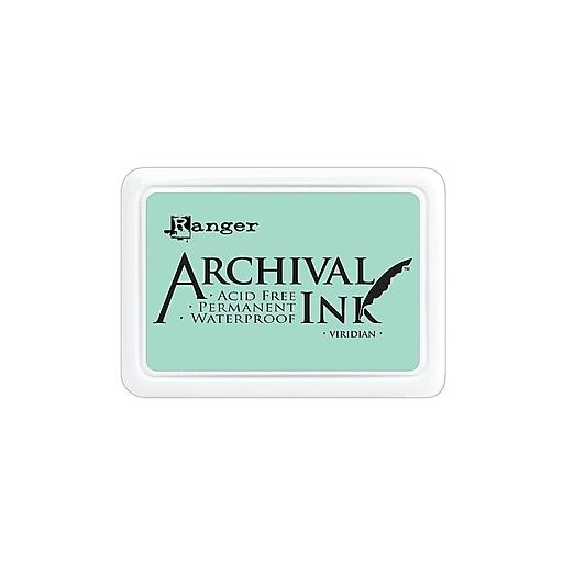 Ranger Archival Ink viridian 2 1/2 in. x 3 3/4 in. pad [Pack of 3]