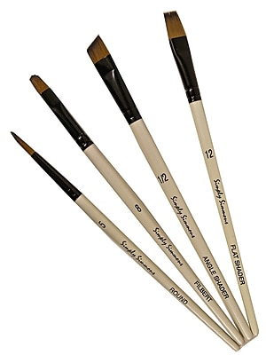 Robert Simmons Simply Simmons Value Brush Sets Work Horse Set set of 4