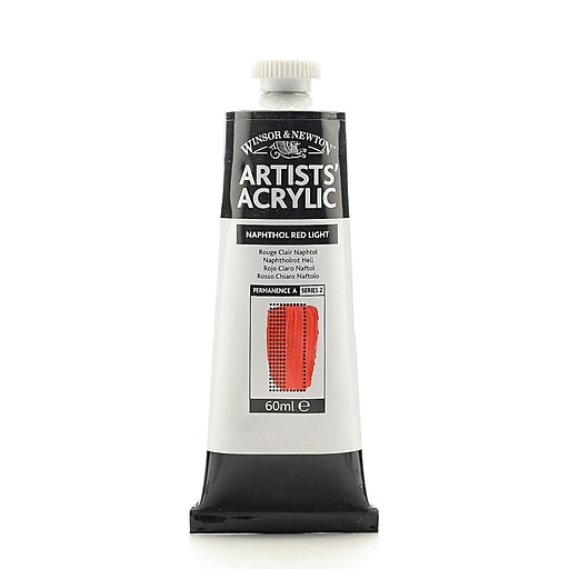 Winsor  and  Newton Professional Acrylic Colours naphthol red light 60 ml 421