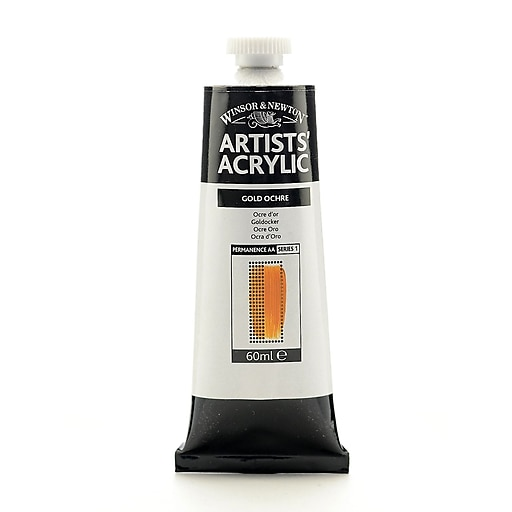 Winsor  and  Newton Professional Acrylic Colours golden ochre 60 ml 285 [Pack of 2]