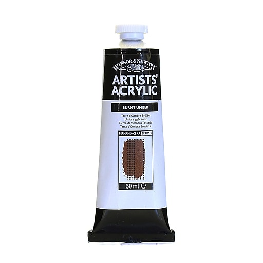 Winsor  and  Newton Professional Acrylic Colours burnt umber 60 ml 76 [Pack of 2]