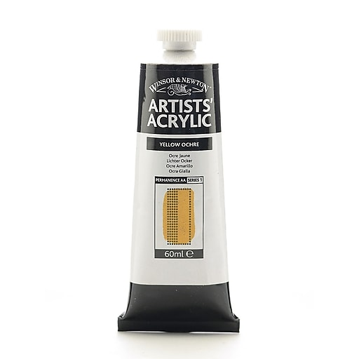 Winsor  and  Newton Professional Acrylic Colours yellow ochre 60 ml 744 [Pack of 2]