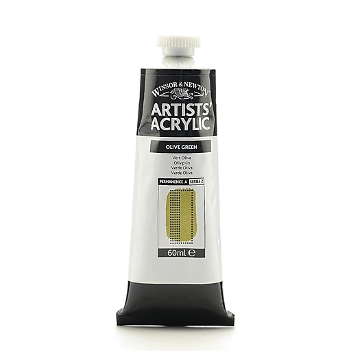 Winsor  and  Newton Professional Acrylic Colours olive green 60 ml 447
