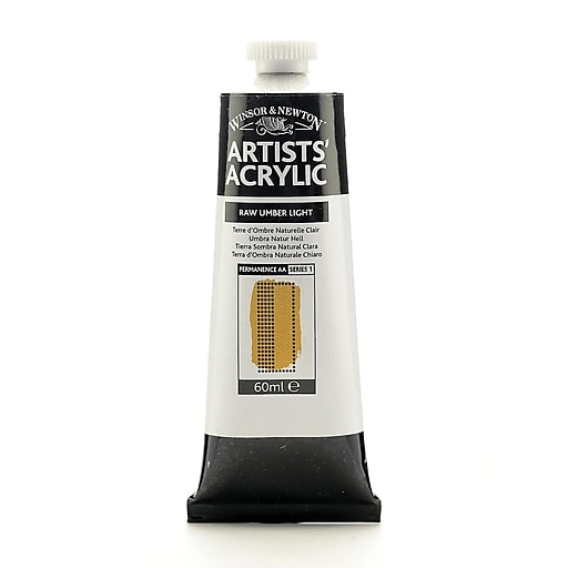 Winsor  and  Newton Professional Acrylic Colours raw umber light 60 ml 557 [Pack of 2]
