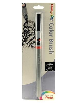 Pentel Color Brush pigment black pen [Pack of 5]