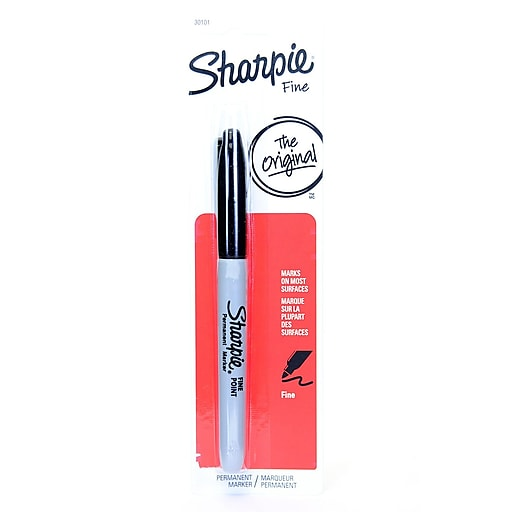 Sharpie Fine Point Markers black carded [Pack of 18]