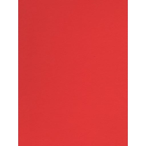 Canson Colorline 19in x 25in Tomato 300 GSM Heavyweight Paper Sheets, 10/Pack (60557-PK10)