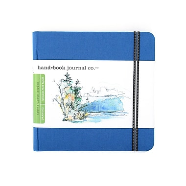 Hand Book Journal Co. Travelogue Drawing Journals 5 1/2 in. x 5 1/2 in. square ultramarine blue